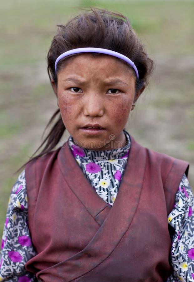 Download Tibetan girl editorial stock photo. Image of nomad, chuba - 24664708