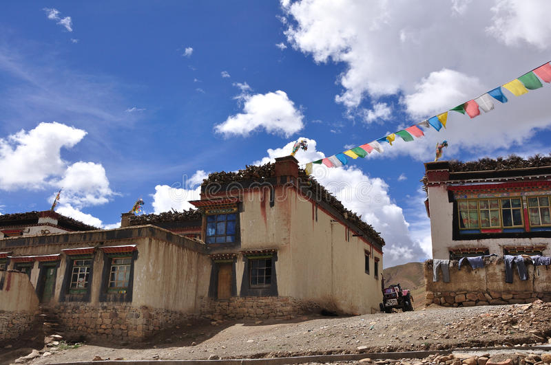 Download A Tibetan house stock image. Image of bright, peaks, flag - 16618837