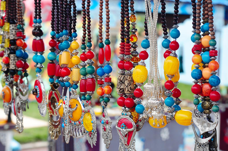 Tibetan Jewelries royalty free stock photo