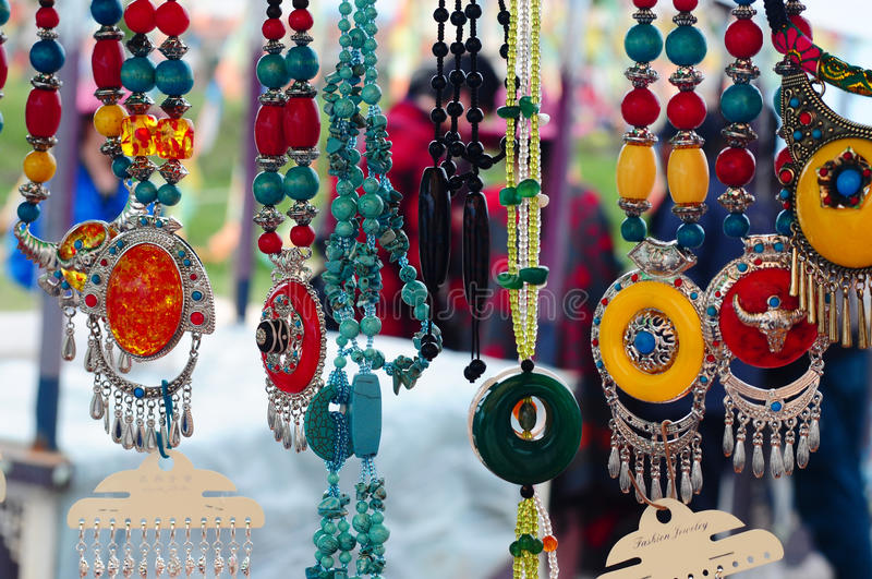 Tibetan Jewelries stock photo