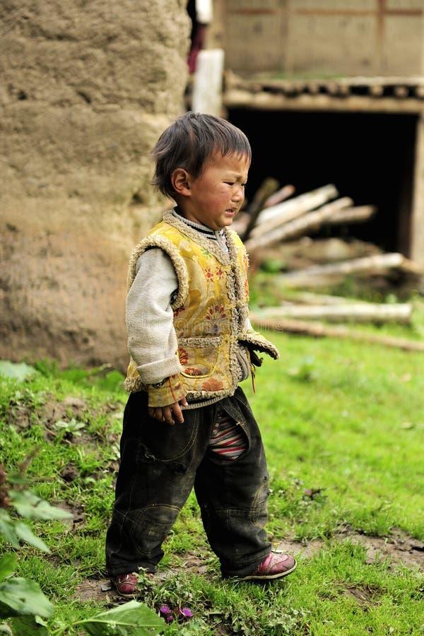 Tibetan kid portrait royalty free stock photos
