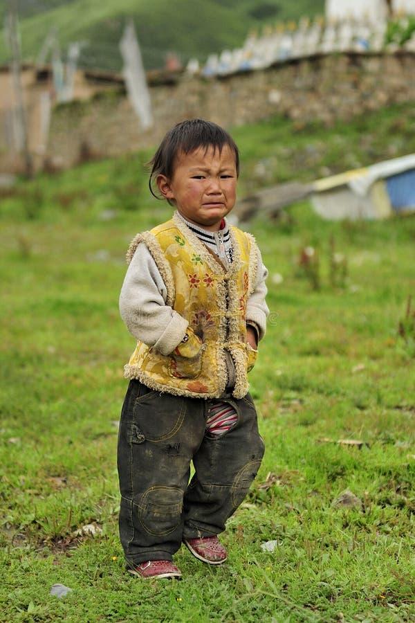 Tibetan kid portrait stock photography