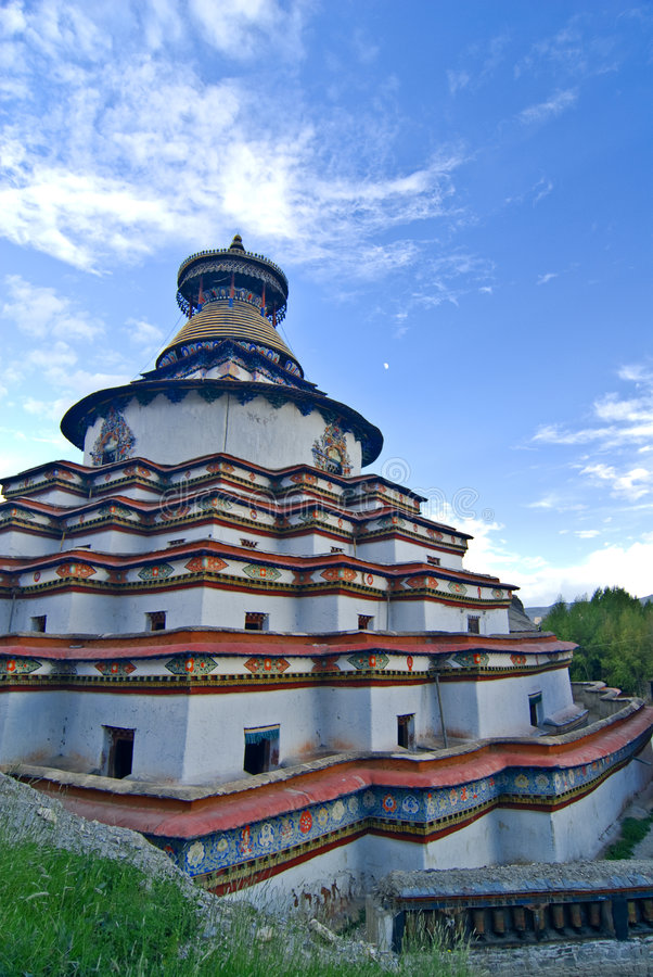 tibetan kloster royaltyfri fotografi