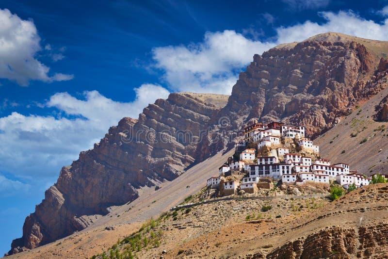 Tibetan kloster för Ki gompa Spiti dal, Himachal Pradesh, Indi royaltyfri bild
