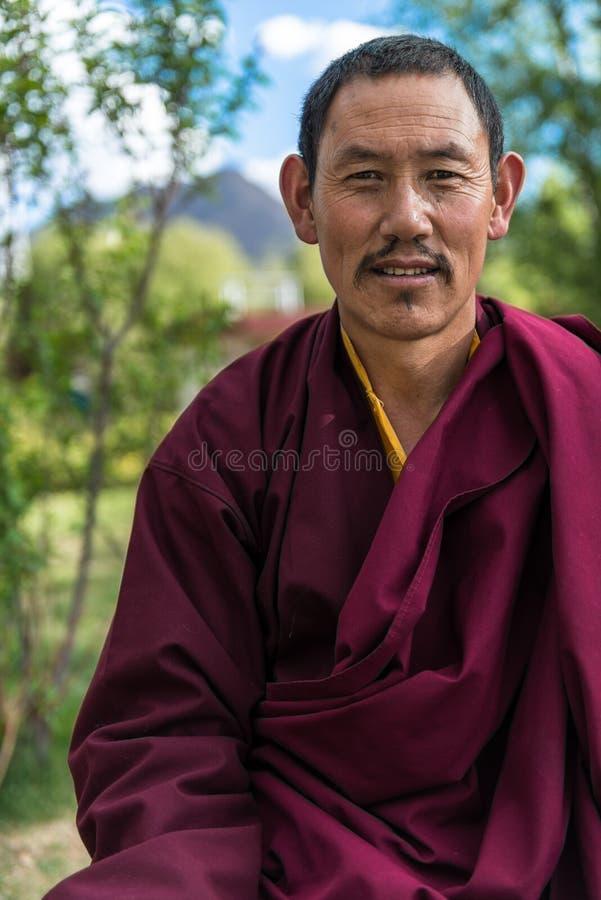 Tibetan Lhama royalty free stock photography