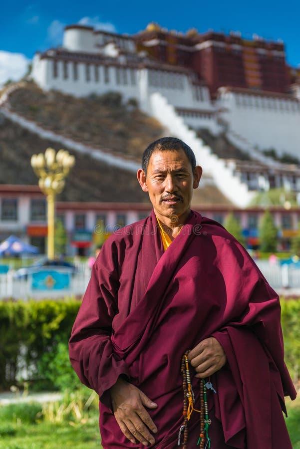 Tibetan Lhama stock photos