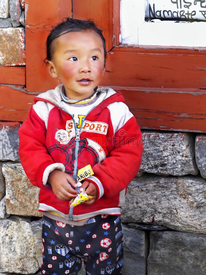 Tibetan Little Girl royalty free stock photography