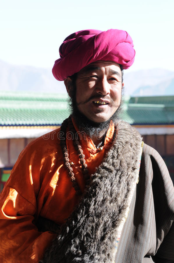 Tibetan man stock images