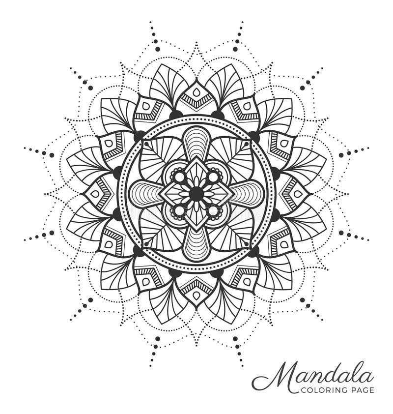 Download Tibetan Mandala Decorative Ornament Design Stock Vector