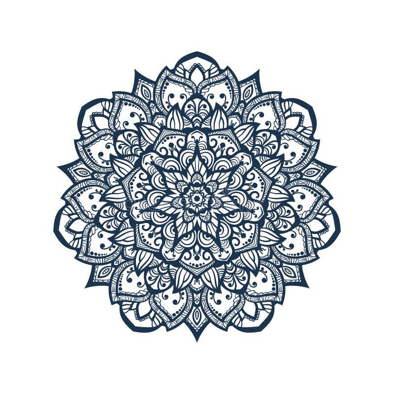 Tibetan mandala. Mandala. Tibetan mandala on seamless background. Vintage decorative elements. Hand drawn seamless pattern. Islam, Arabic, Indian, ottoman motifs vector illustration