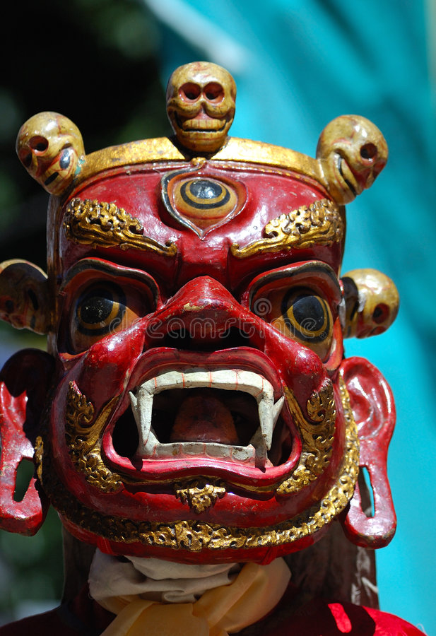 Tibetan mask stock photo