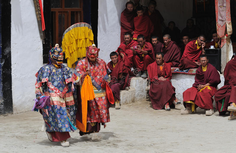 Download Tibetan Mask Dance 1 editorial photo. Image of tourism - 26000606