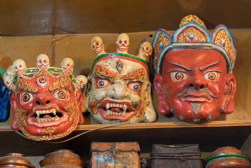 Tibetan masks at Ladakh. royalty free stock image