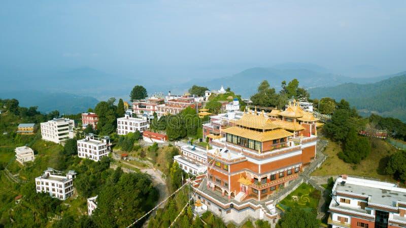 Tibetan Monastery, Kathmandu valley, Nepal - October 17, 2017 royalty free stock photography