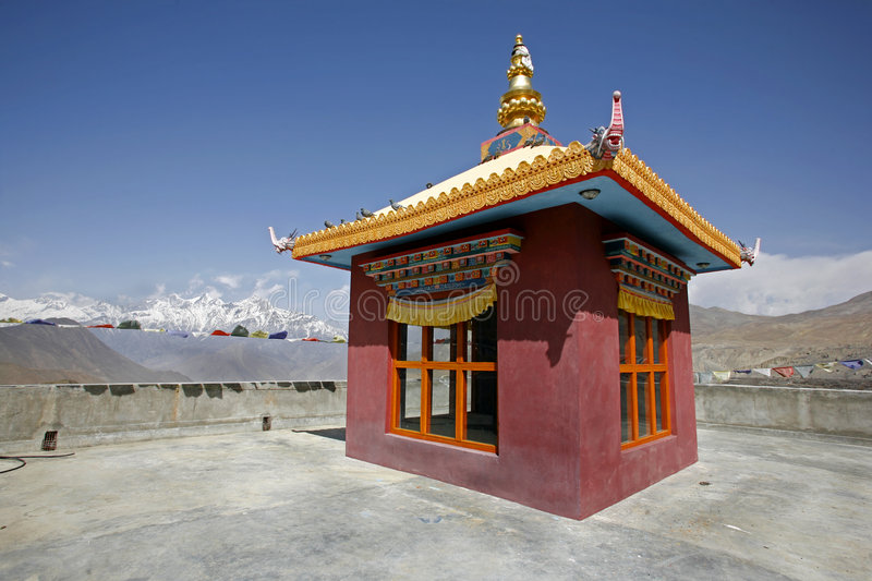 Tibetan monastery in muktinath, annapurna. Circuit, nepal royalty free stock photo