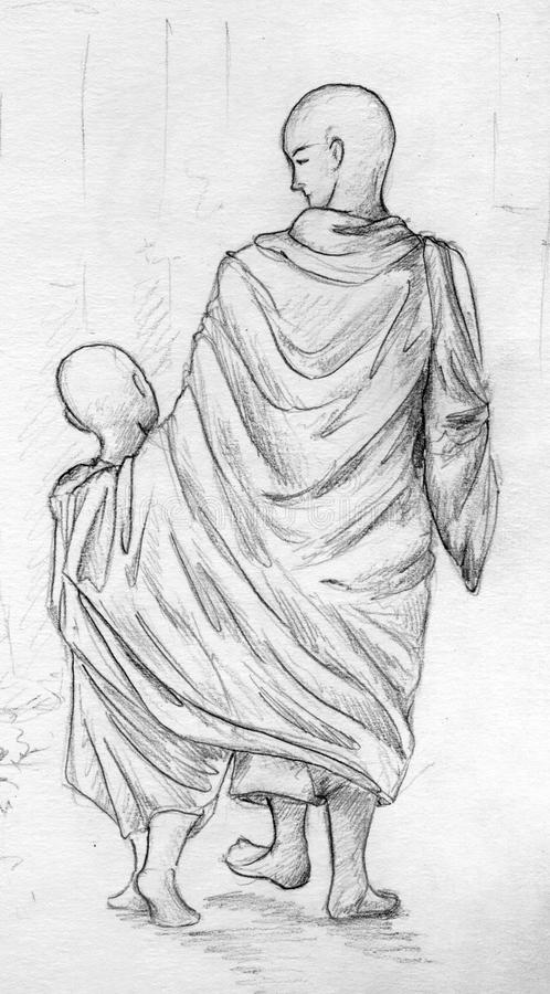 Download Tibetan monks stock illustration. Image of buddism, teens - 23728375