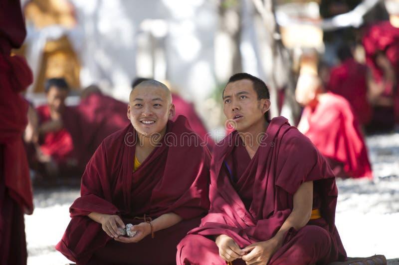 Tibetan Monniken stock fotografie