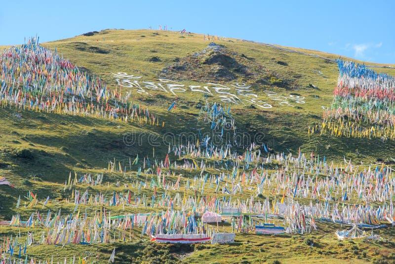 Tibetan mountain slope stock images