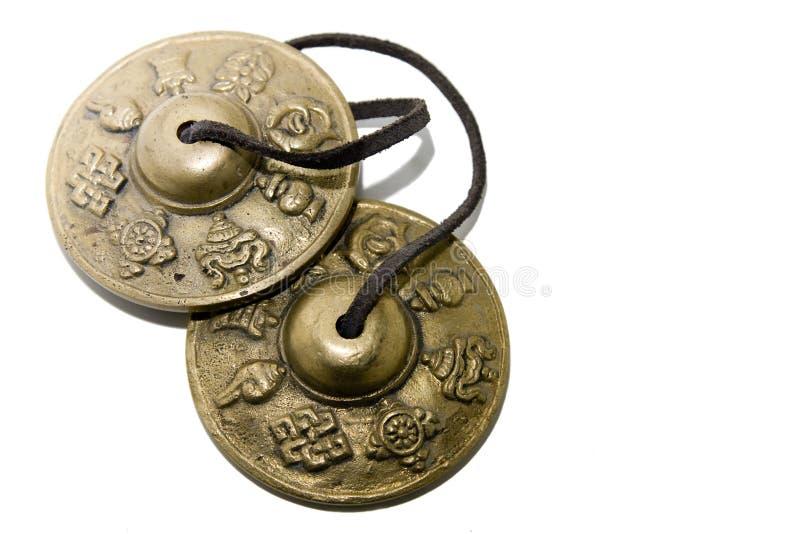 Tibetan muzikaal instrument stock foto