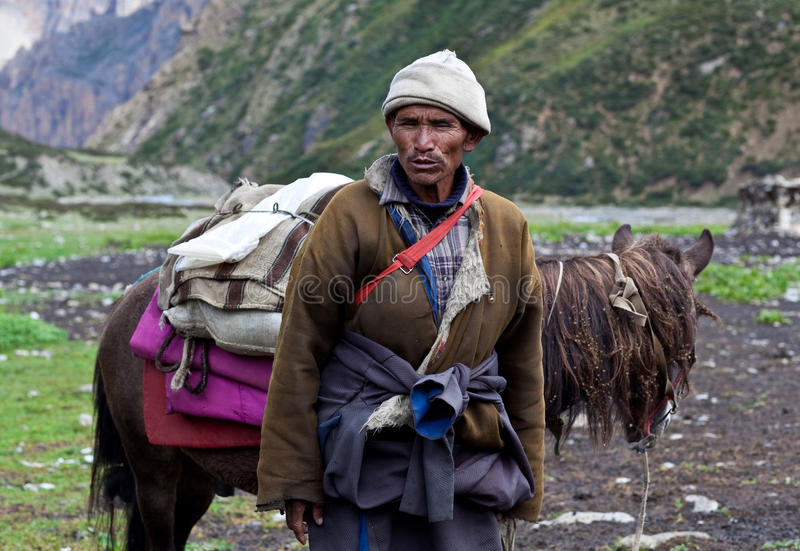 Download Tibetan nomad editorial stock photo. Image of peasant - 23894458