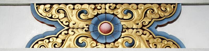 Tibetan ontwerp op stupa royalty-vrije stock afbeeldingen