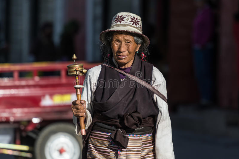 Tibetan People royalty free stock photo