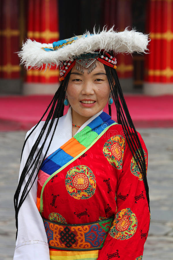 Tibetan pilgrim royalty free stock images