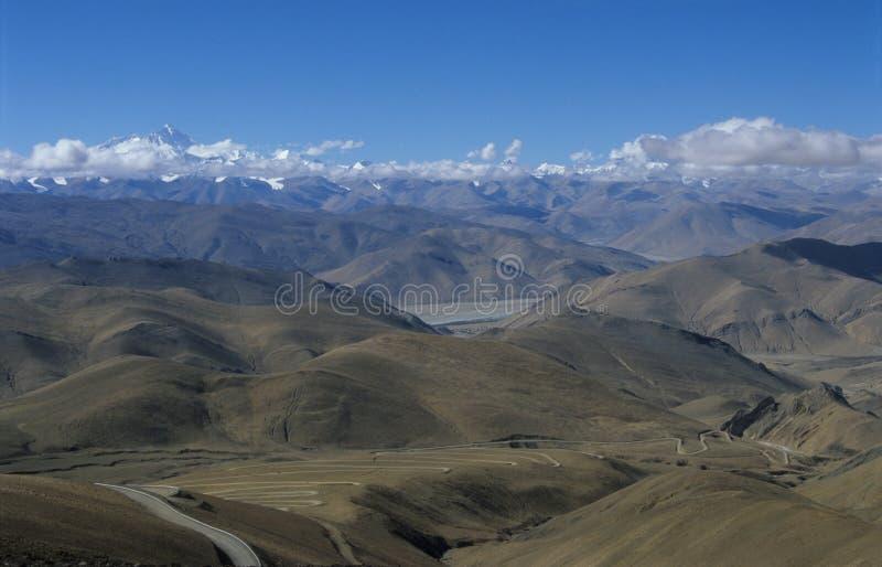 Tibetan plateau stock photo