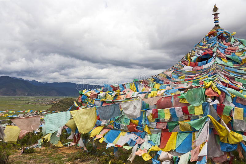 Download Tibetan Prayer Flags stock photo. Image of china, tepee - 20064600