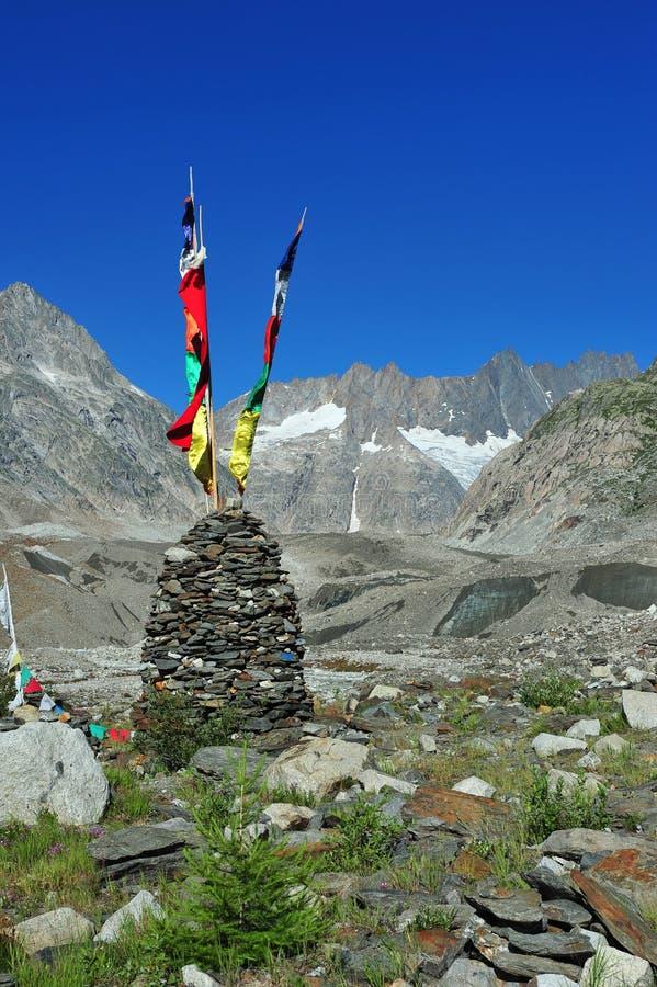 Download Tibetan prayer flags stock image. Image of peak, climbing - 26002723