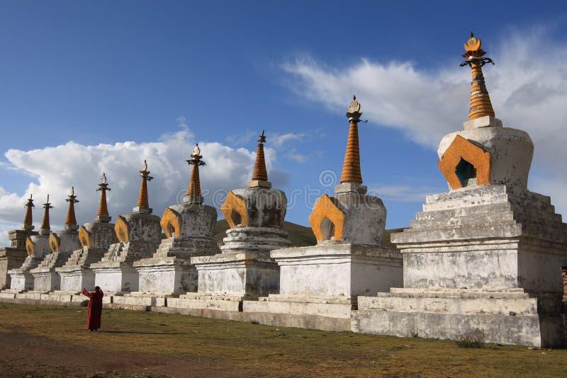 Tibetan Prayer Tower royalty free stock photography