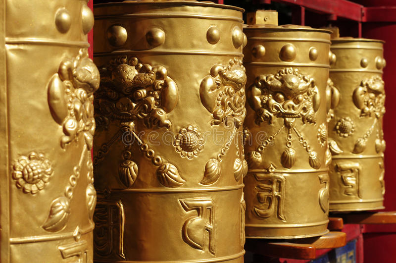 Download Tibetan prayer wheels stock photo. Image of bronze, object - 24793688