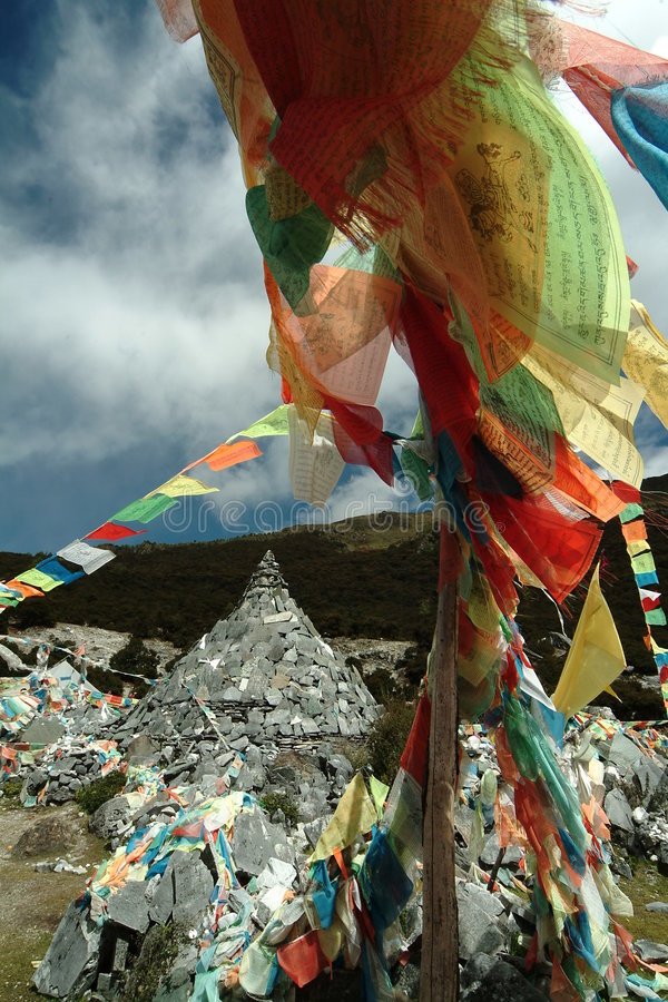 Download Tibetan Religion Supplies - Wind Horse's Banner Stock Image - Image: 4728285