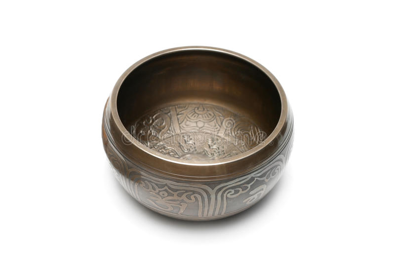 Download Tibetan singing bowl stock photo. Image of brass, medicine - 14423666