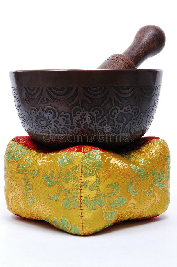 Download Tibetan Singing Bowl stock image. Image of stress, tibetan - 983305