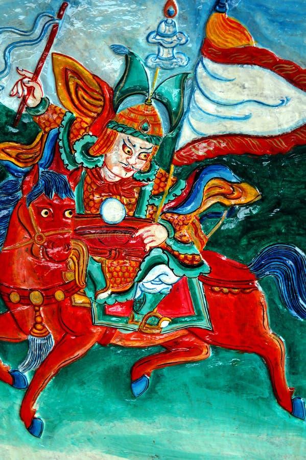 Tibetan sneed royalty-vrije illustratie
