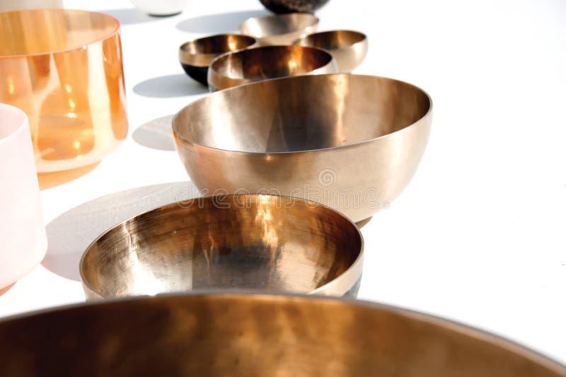 Tibetan Sound Singing Bowls stock fotografie