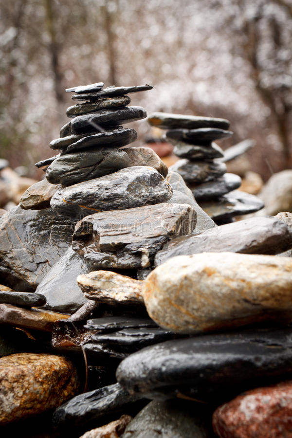 Tibetan Stones tower blessing royalty free stock photography