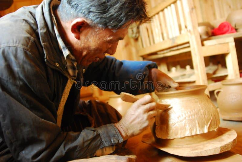 Tibetan svart krukmakeri royaltyfri fotografi