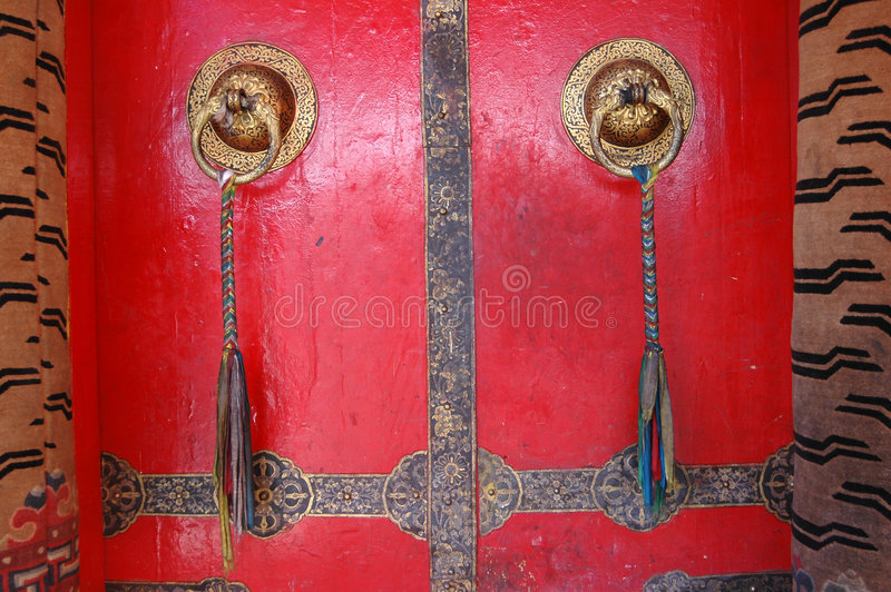 The Tibetan temple door royalty free stock photos