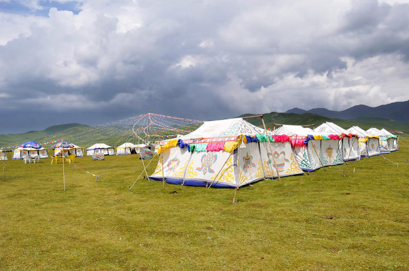 Download Tibetan Tent With Cloudy Royalty Free Stock Images - Image: 26090689