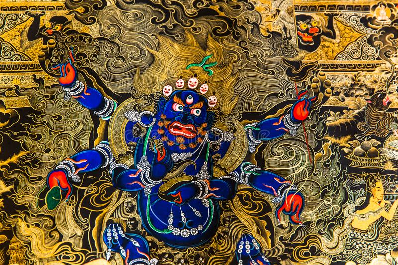 Tibetan Thangka Painting: The Merger of an Art and a Culture royalty free stock photo