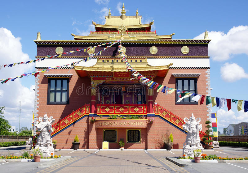 Tibetan Thrangu kloster Richmond, Kanada fotografering för bildbyråer
