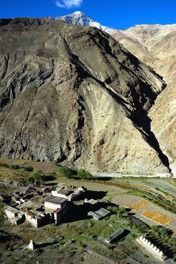 Tibetan village stock photo