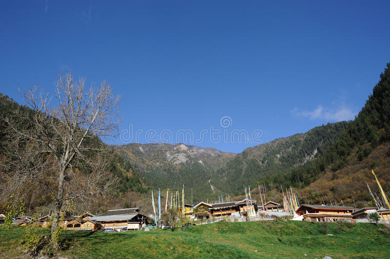 Tibetan village royalty free stock photo