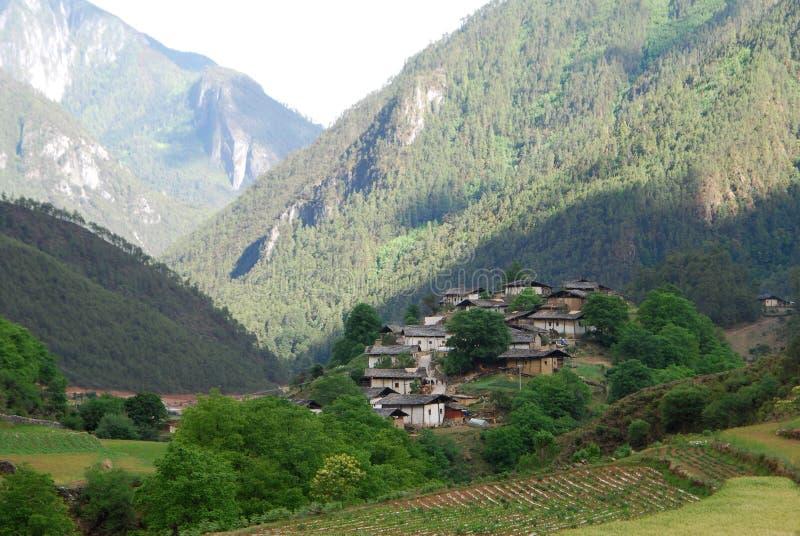 Tibetan village in shangri-la. A small Tibetan village in shangri-la ,Yunnan,China stock photo