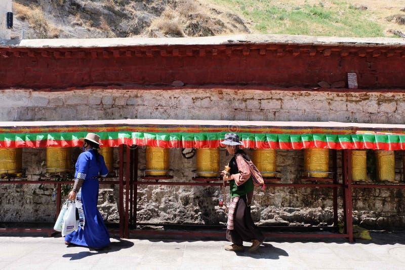 Tibetan women stock image