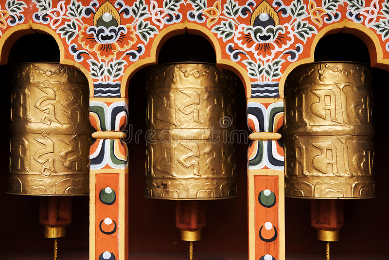 tibetana hjul för bön royaltyfria foton