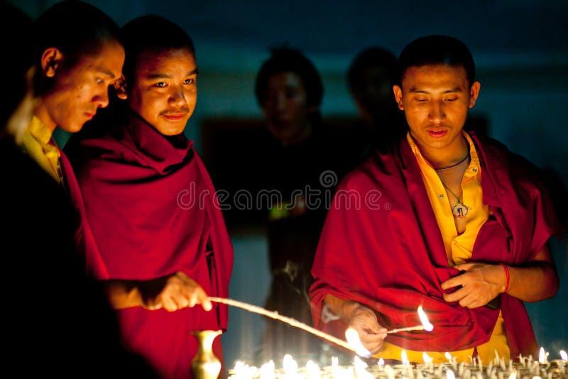 Tibetana munkar, Nepal royaltyfri bild