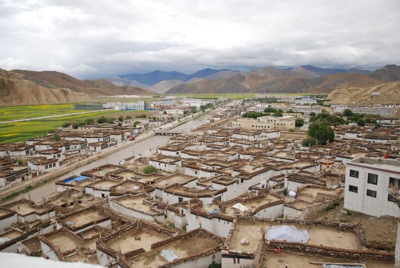 Tibetana stilhus arkivbild